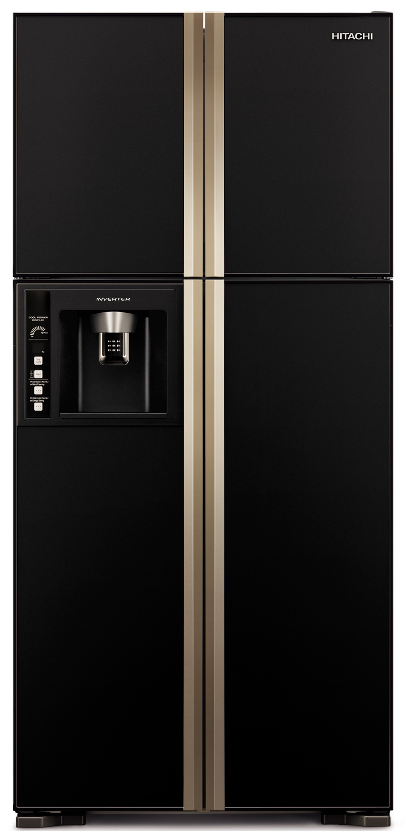 Hitachi Side-By-Side Refrigerator  H-RW720FPG1XGBK