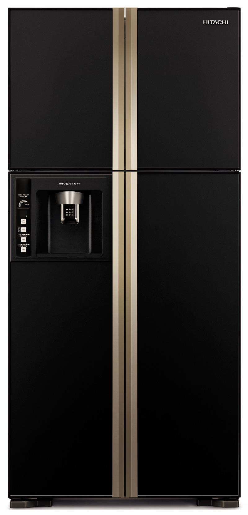 Side-By-Side Refrigerator - 582L, 2 Doors, Black      H-RW720FPG1XGBK